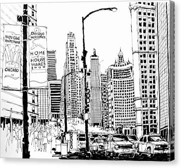 Chicago Michigan Avenue  Canvas Print