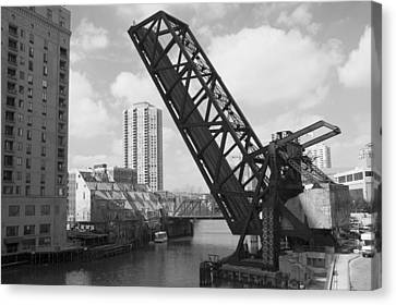 Chicago Movable Bridge Canvas Print by Patrick  Warneka
