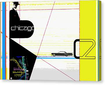 Chicago Canvas Print by Naxart Studio