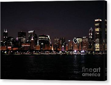 Chicago Night Canvas Print by Cathy Weaver