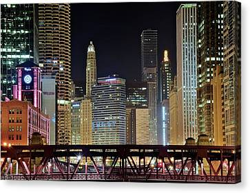 Chicago Over Wells Street Canvas Print