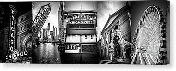 Chicago Panorama Collage High Resolution Photo Canvas Print by Paul Velgos