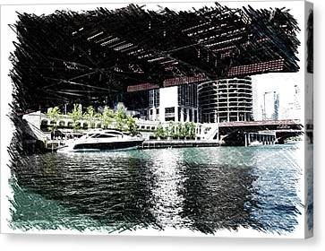 Chicago Parked On The River In June 03 Pa 01 Canvas Print by Thomas Woolworth