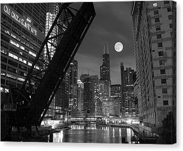 Late Canvas Print - Chicago Pride Of Illinois by Frozen in Time Fine Art Photography