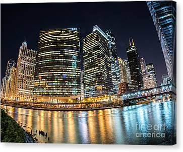 Chicago River Canvas Print - Chicago Reflections by Juli Scalzi