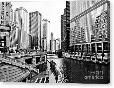 Chicago River Buildings Architecture Canvas Print by Paul Velgos