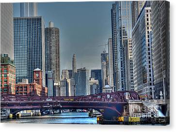 Chicago River East Canvas Print by David Bearden