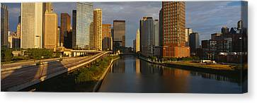Chicago River From Lake Shore Drive Canvas Print
