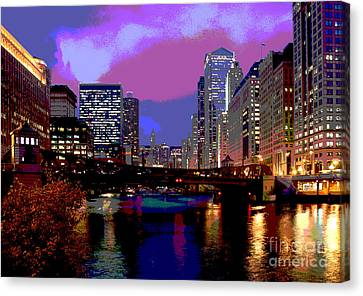 Chicago River Canvas Print by Jim Wright