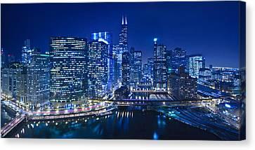 Chicago River Panorama Canvas Print by Steve Gadomski