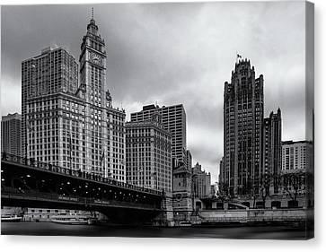 Chicago River Canvas Print - Chicago River Scene by Andrew Soundarajan