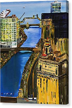 Chicago River Skyline Canvas Print by Gregory A Page