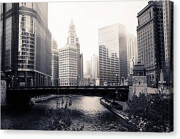 Chicago River Skyline Canvas Print by Paul Velgos