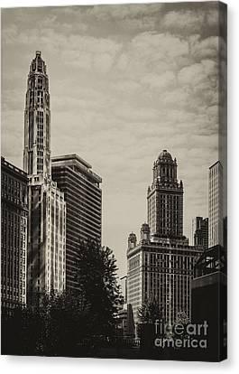 Chicago Riverside Canvas Print by Andrew Paranavitana