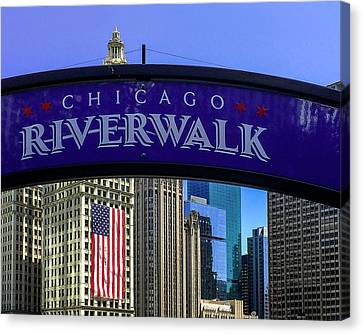 Patriotism Canvas Print - Chicago Riverwalk by Andrew Soundarajan