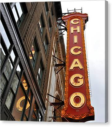 Canvas Print featuring the photograph Chicago by Sheryl Thomas