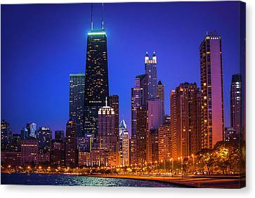 Chicago Shoreline Skyscrapers Canvas Print