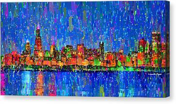 Chicago Skyline 200 - Da Canvas Print