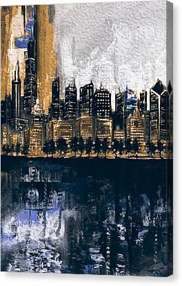 Chicago Skyline 201 2 Canvas Print by Mawra Tahreem