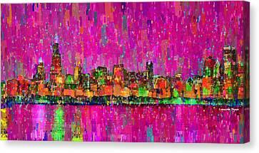 Chicago Skyline 202 - Da Canvas Print by Leonardo Digenio