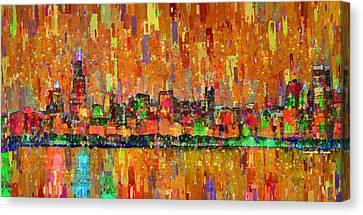 Chicago Skyline 204 - Da Canvas Print by Leonardo Digenio