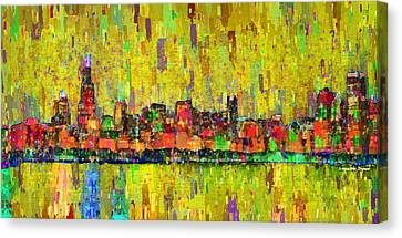 Chicago Skyline 205 - Da Canvas Print by Leonardo Digenio