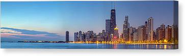 Chicago Skyline At Dawn Canvas Print by Twenty Two North Photography