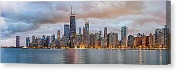Chicago Skyline At Dusk Canvas Print