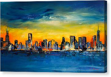 Chicago Skyline Canvas Print - Chicago Skyline by Elise Palmigiani