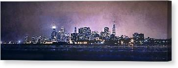 Hancock Building Canvas Print - Chicago Skyline From Evanston by Scott Norris