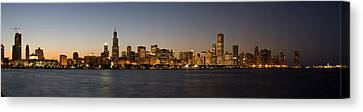 Chicago Skyline Panorama Canvas Print by Steve Gadomski