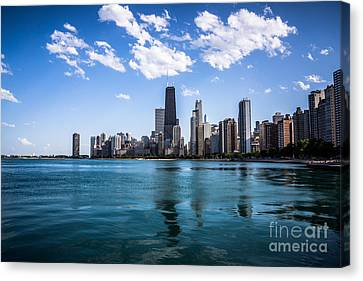 Chicago Skyline Photo With Hancock Building Canvas Print by Paul Velgos