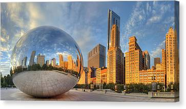 Cloud Gate Canvas Print - Chicago Skyline by Twenty Two North Photography