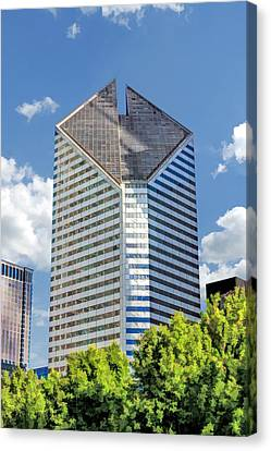 Canvas Print featuring the painting Chicago Smurfit-stone Building by Christopher Arndt