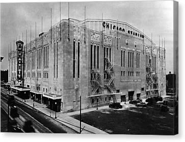 Candid Canvas Print - Chicago Stadium, Chicago, Illinois by Everett