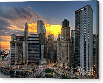 Chicago Storm Canvas Print by Jeff Lewis