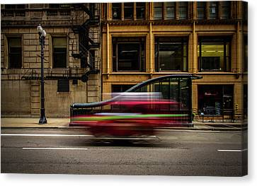 Chicago Street Canvas Print by Mike Burgquist