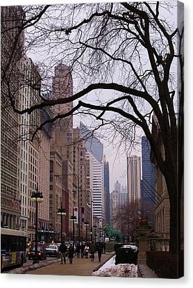 Chicago Street Scene Canvas Print