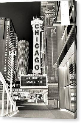 Chicago Theater - 2 Canvas Print by Ely Arsha