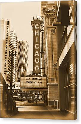 Chicago Theater - 3 Canvas Print by Ely Arsha