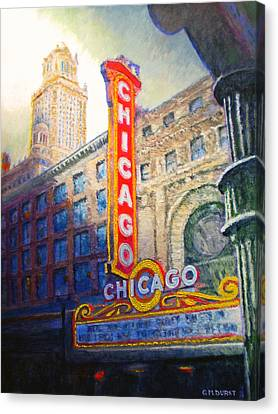 Chicago Theater Canvas Print by Michael Durst