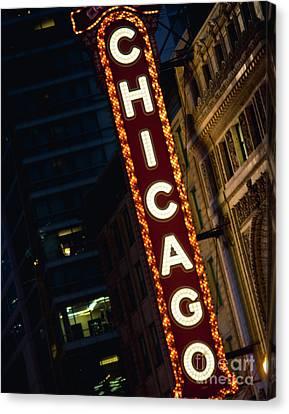 Chicago Theater Neon Canvas Print