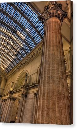 Chicago Union Station Column Canvas Print by Steve Gadomski