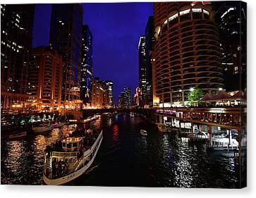 Chicago Waterway  Canvas Print