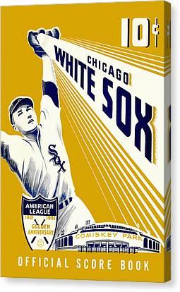 Chicago White Sox 1951 Scorebook Canvas Print by Big 88 Artworks