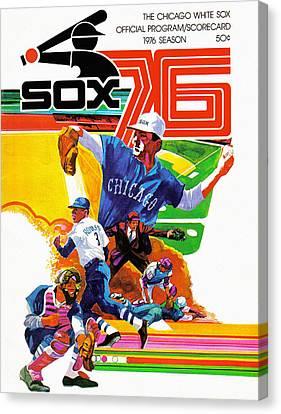 Chicago White Sox 1976 Program Canvas Print by Big 88 Artworks