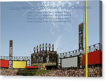 Chicago White Sox 2005 World Series Champions 03 Canvas Print