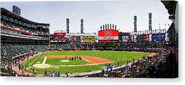 Chicago White Sox Family Day Panorama 04 Pa 01 Canvas Print