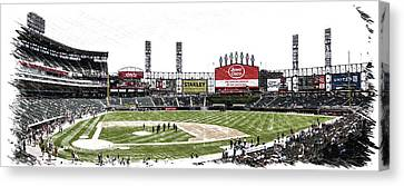 Chicago White Sox Family Day Panorama 04 Pa 02 Canvas Print