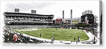 Chicago White Sox Family Day Panorama 05 Pa 01 Canvas Print